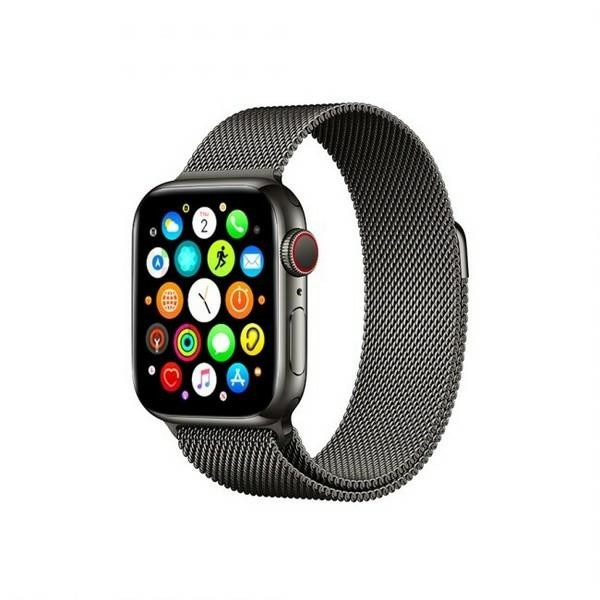Curea Goospery Milanese Loop Compatibila Cu Apple Watch 4 / 5 / 6/ SE 44MM, Negru Metalic imagine itelmobile.ro 2021