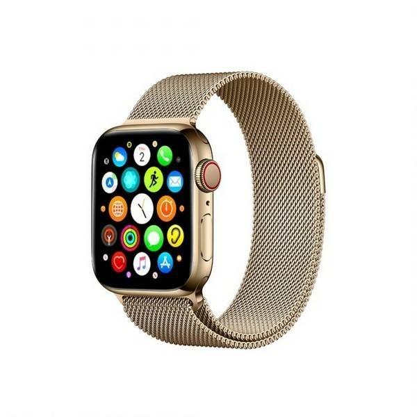 Curea Goospery Milanese Loop Compatibila Cu Apple Watch 4 / 5 / 6/ SE 44MM, Metalic Gold imagine itelmobile.ro 2021