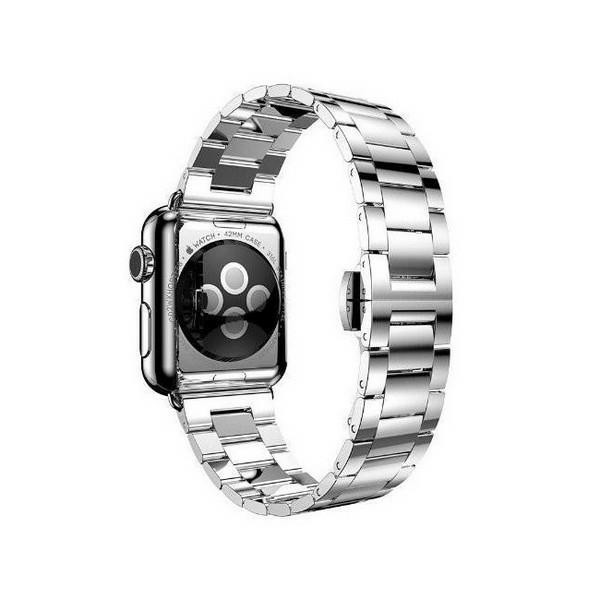 Curea Goospery Metalic Band Compatibila Cu Apple Watch 4 / 5 / 6/ SE 40MM, Silver imagine itelmobile.ro 2021