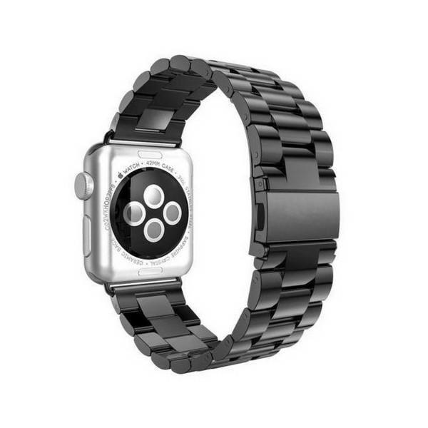 Curea Goospery Metalic Band Compatibila Cu Apple Watch 4 / 5 / 6/ SE 44MM, Negru imagine itelmobile.ro 2021
