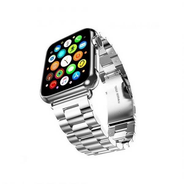 Curea Goospery Metalic Band Compatibila Cu Apple Watch 4 / 5 / 6/ SE 44MM, Silver imagine itelmobile.ro 2021