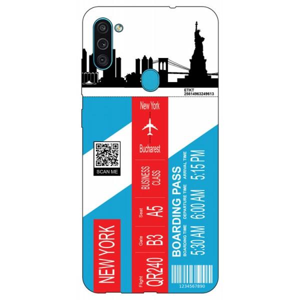 Husa Silicon Soft Upzz Print Travel Compatibila cu Samsung Galaxy A11 Model New York imagine itelmobile.ro 2021