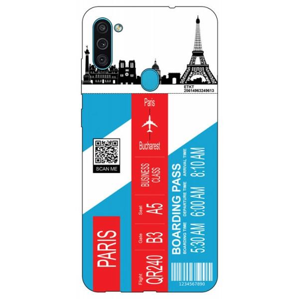 Husa Silicon Soft Upzz Print Travel Compatibila cu Samsung Galaxy A11 Model Paris imagine itelmobile.ro 2021