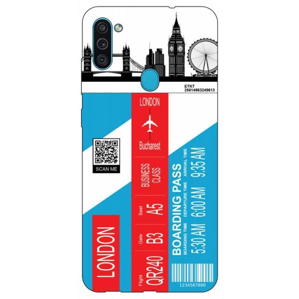 Husa Silicon Soft Upzz Print Travel Compatibila cu Samsung Galaxy M11 Model London imagine itelmobile.ro 2021