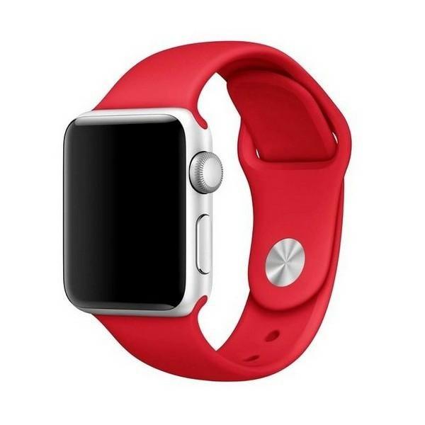 Curea Goospery Silicone Band Compatibila Cu Apple Watch 4 / 5 / 6/ SE 40MM, Silicon, Rosu imagine itelmobile.ro 2021