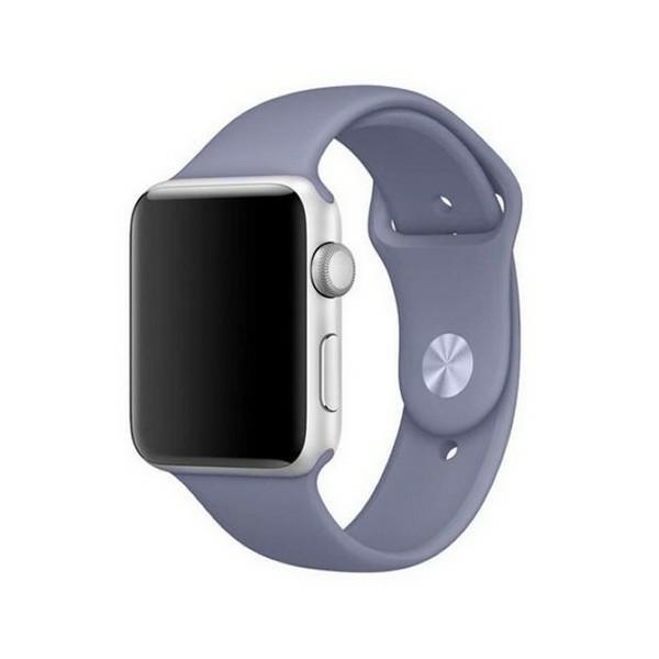 Curea Goospery Silicone Band Compatibila Cu Apple Watch 4 / 5 / 6/ SE 40MM, Silicon, Lavander Gri imagine itelmobile.ro 2021