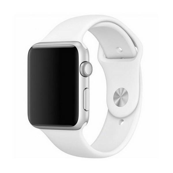 Curea Goospery Silicone Band Compatibila Cu Apple Watch 4 / 5 / 6/ SE 44MM, Silicon, Alb imagine itelmobile.ro 2021