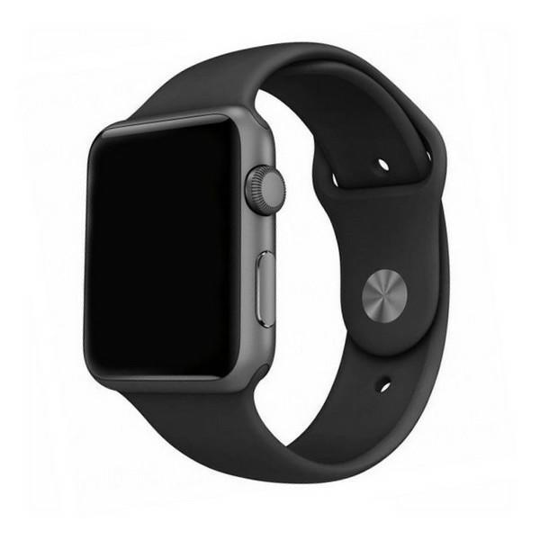 Curea Goospery Silicone Band Compatibila Cu Apple Watch 4 / 5 / 6/ SE 44MM, Silicon, Negru imagine itelmobile.ro 2021