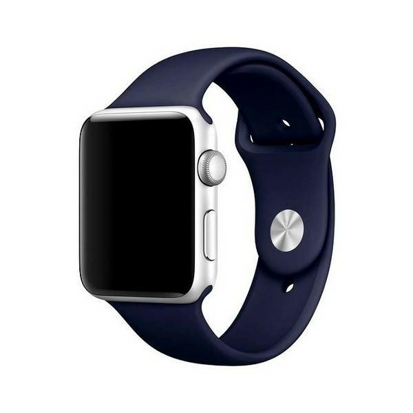 Curea Goospery Silicone Band Compatibila Cu Apple Watch 4 / 5 / 6/ SE 44MM, Silicon, Navy Blue imagine itelmobile.ro 2021