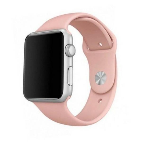 Curea Goospery Silicone Band Compatibila Cu Apple Watch 4 / 5 / 6/ SE 44MM, Silicon, Roz imagine itelmobile.ro 2021