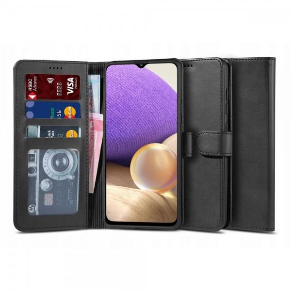 Husa Flip Carte Upzz Tech Wallet 2 Compatibila Cu Samsung Galaxy A32 5G, Negru imagine itelmobile.ro 2021