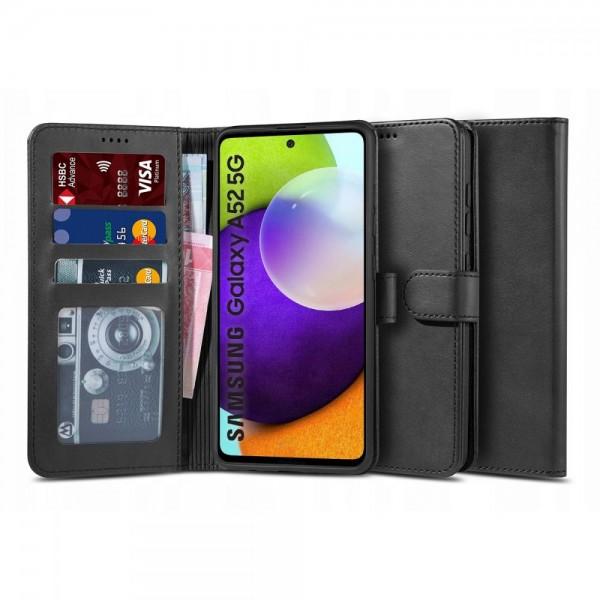 Husa Flip Carte Upzz Tech Wallet 2 Compatibila Cu Samsung Galaxy A52 5G, / A52 Negru imagine itelmobile.ro 2021