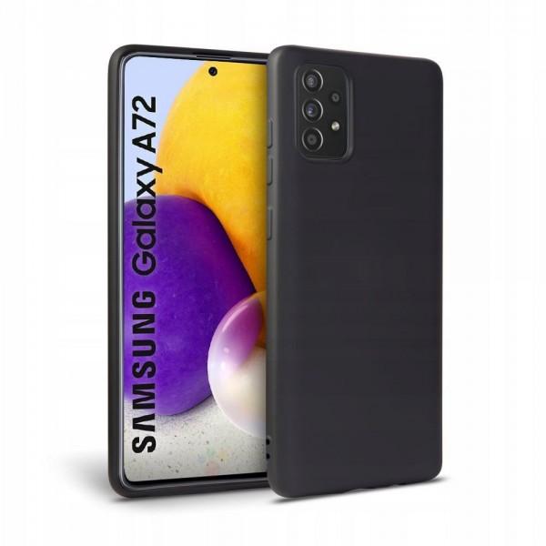 Husa Spate Upzz Tech Icon Compatibila Cu Samsung Galaxy A72, Interior Alcantara, Silicon, Negru imagine itelmobile.ro 2021