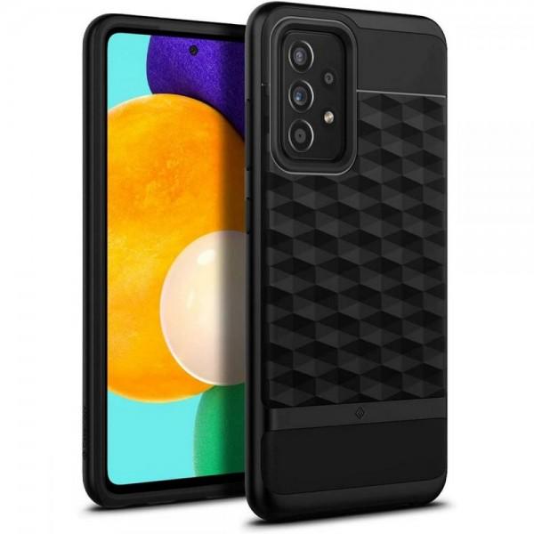 Husa Premium Caseology By Spigen Parallax Compatibila Cu Samsung Galaxy A52 / A52 5G, Negru imagine itelmobile.ro 2021