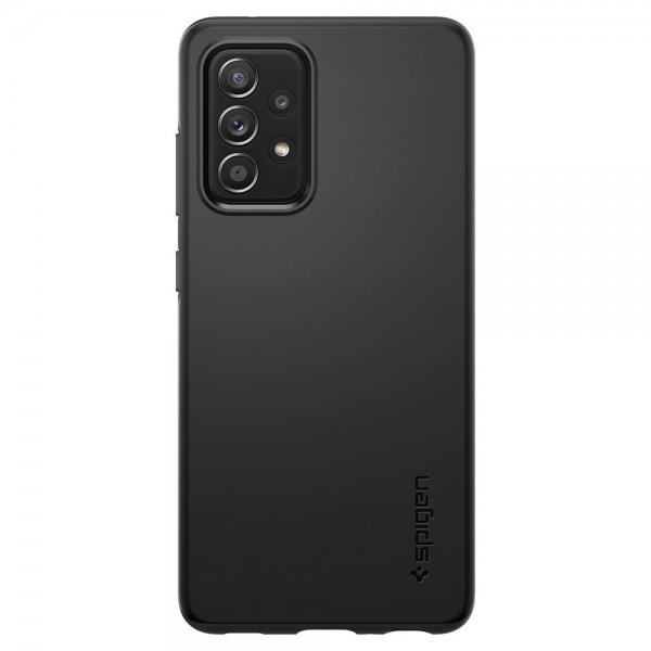 Husa Premium Spigen Thin Fit Pentru Samsung Galaxy A52 / A52 5G, Negru, Policarbonat imagine itelmobile.ro 2021