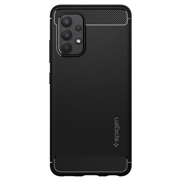 Husa Premium Spigen Rugged Armor Pentru Samsung Galaxy A52 / A52 5G, Silicon, Negru imagine itelmobile.ro 2021