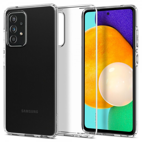 Husa Premium Spigen Liquid Crystal Pentru Samsung Galaxy A52 / A52 5G, Silicon, Transparent imagine itelmobile.ro 2021