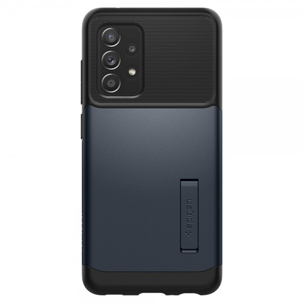 Husa Premium Spigen Slim Armor Compatibila Cu Samsung Galaxy A52 / A52 5G, Metal Slate imagine itelmobile.ro 2021