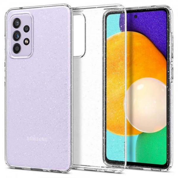 Husa Premium Spigen Liquid Crystal Glitter Pentru Samsung Galaxy A72, Silicon, Transparent Glitter imagine itelmobile.ro 2021