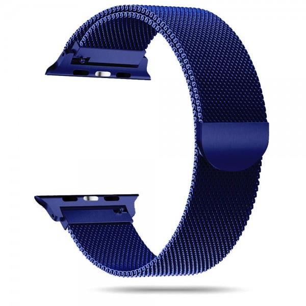 Curea Apple Watch, Tech Protect Milanese Loop, Compatibila Cu Apple Watch 4/5/6/SE (42/44mm), Navy Blue imagine itelmobile.ro 2021