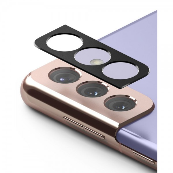 Protectie Camera Alminiu Ringke Styling Pentru Samsung Galaxy S21+ Plus, Negru imagine itelmobile.ro 2021