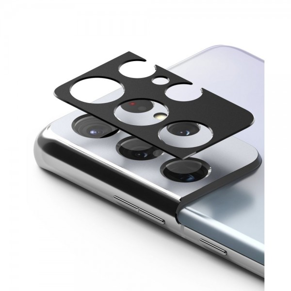 Protectie Camera Alminiu Ringke Styling Pentru Samsung Galaxy S21 Ultra, Negru imagine itelmobile.ro 2021
