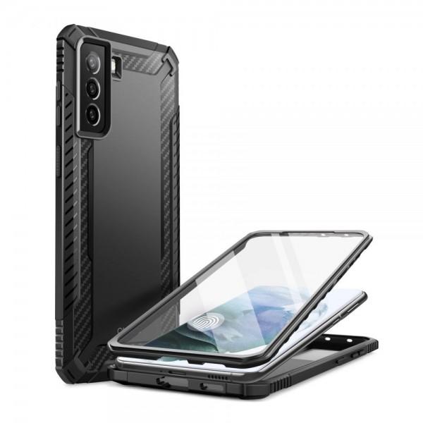 Husa Premium Supcase Clayco Xenon Compatibila Cu Samsung Galaxy S21, Negru imagine itelmobile.ro 2021