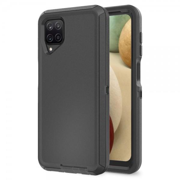 Husa Protectie Upzz Tech Adventure Compatibila Cu Samsung Galaxy A12, Negru imagine itelmobile.ro 2021