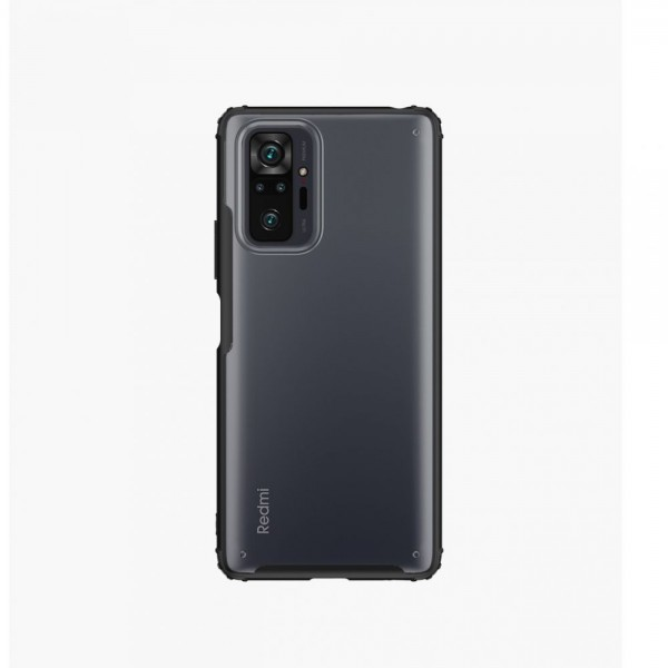 Husa Spate Upzz Hybridshell Compatibila Cu Xiaomi Redmi Note 10 Pro, Frosted Negru imagine itelmobile.ro 2021