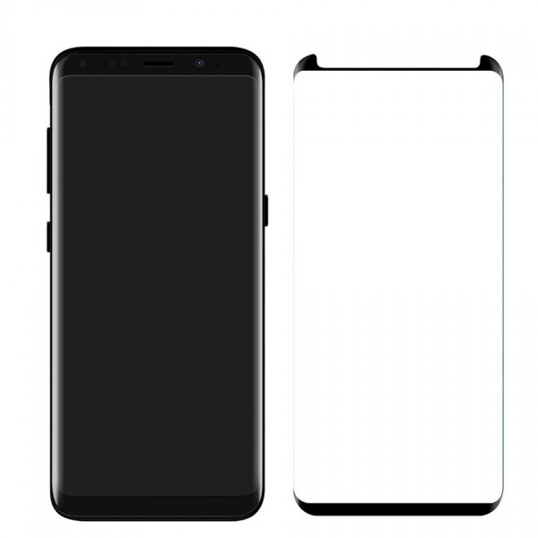 Folie Sticla Securizata 9h Samsung S8 Plus Full Cover Negru Small imagine itelmobile.ro 2021