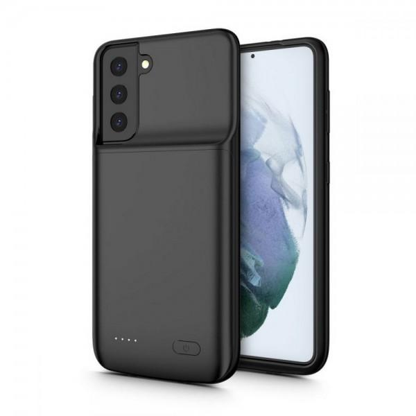 Husa De Protectie Cu Baterie Upzz Tech Compatibila Cu Samsung Galaxy S21, Negru, Capacitate 4800mAh imagine itelmobile.ro 2021
