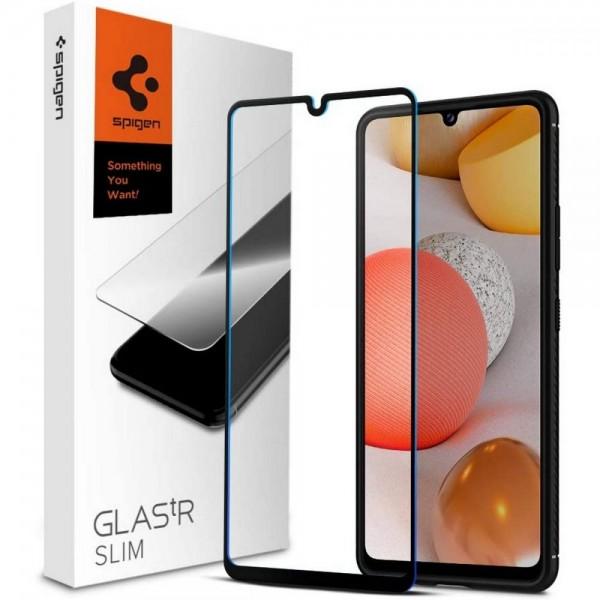Folie Premium Tempered Glass Spigen Glass Tr Slim Samsung Galaxy A42 5G, Transparenta Cu Margini Negre imagine itelmobile.ro 2021