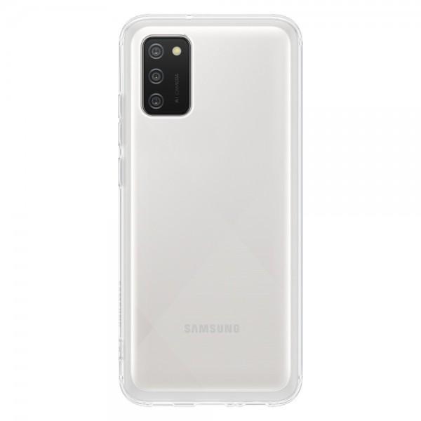 Husa Premium Originala Samsung Compatibila Cu Samsung Galaxy A02s, Transparenta - EF-QA026TTEGEU imagine itelmobile.ro 2021