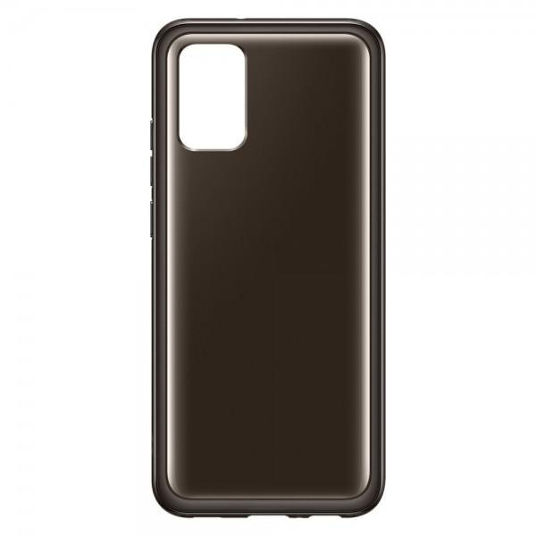 Husa Premium Originala Samsung Compatibila Cu Samsung Galaxy A02s, Negru Fumuriu - EF-QA026TBEGEU imagine itelmobile.ro 2021