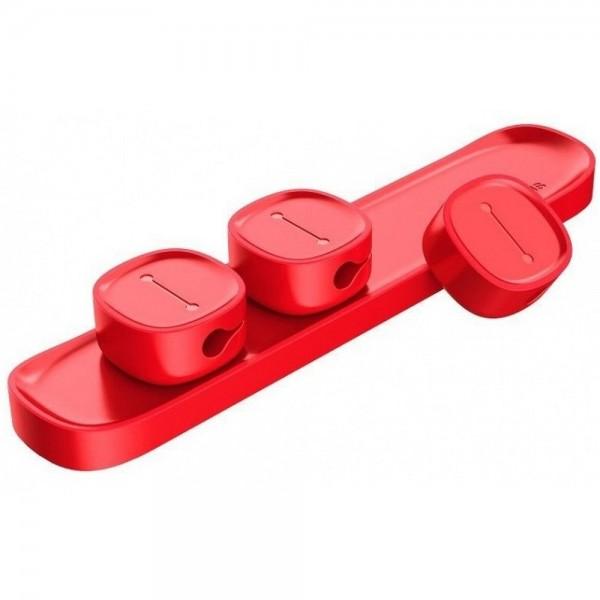 Organizator Magnetic Pentru Cabluri Premium Baseus Red imagine itelmobile.ro 2021