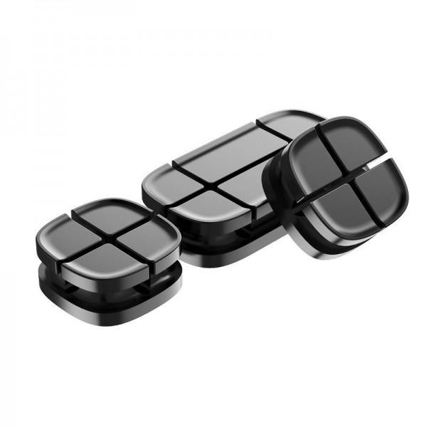 Organizator Magnetic Pentru Cabluri Premium Baseus Negru imagine itelmobile.ro 2021