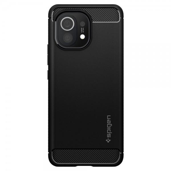 Husa Premium Spigen Rugged Armor Pentru Xiaomi Mi 11, Silicon, Negru imagine itelmobile.ro 2021