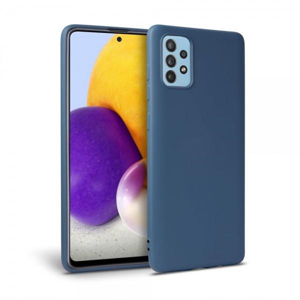 Husa Silicon Soft Upzz Tech Compatibila Cu Samsung Galaxy A72 Interior Alcantara Albastru imagine itelmobile.ro 2021