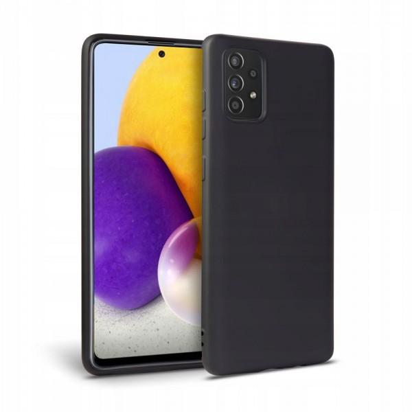 Husa Silicon Soft Upzz Tech Compatibila Cu Samsung Galaxy A52 / A52 5G, Interior Alcantara Albastru imagine itelmobile.ro 2021