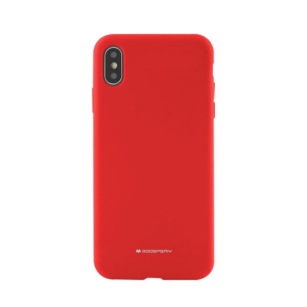Husa Spate Mercury Goospery Silicone Compatibila Cu Samsung Galaxy A50, Interior Alcantara Rosu imagine itelmobile.ro 2021