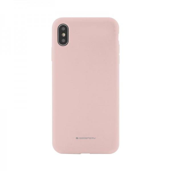Husa Spate Mercury Goospery Silicone Compatibila Cu Samsung Galaxy A50, Interior Alcantara Roz imagine itelmobile.ro 2021
