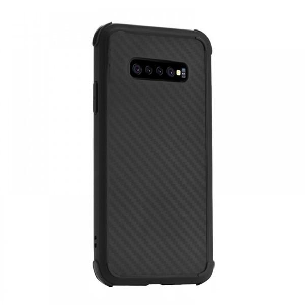 Husa Spate Silicon Roar Carbon Armor Antishock Compatibila Cu Samsung Galaxy S10+ Plus, Negru imagine itelmobile.ro 2021