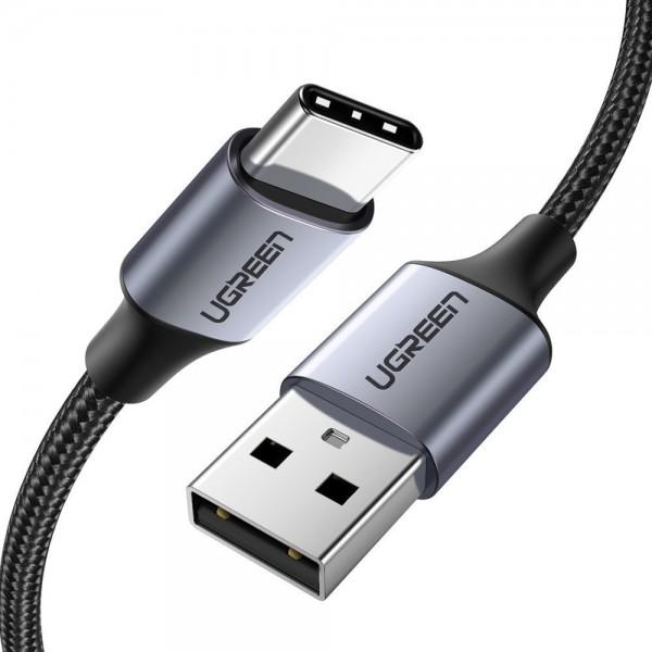 Cablu Date Incarcare Ugreen Usb La Usb Type- C Compatibil Cu Dispozitive Cu Mufa Type-C, Quick Charge 3.0, 3A, 1M, Gri -60126 imagine itelmobile.ro 2021
