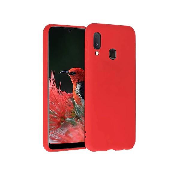 Husa Slim Premium X-level Thin Membrane Compatibila cu Samsung Galaxy A20e, Rosu imagine itelmobile.ro 2021