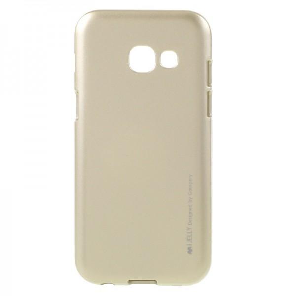 Husa Spate Goospery I-jelly Metal Samsung Galaxy A3 Gold 2017 imagine itelmobile.ro 2021