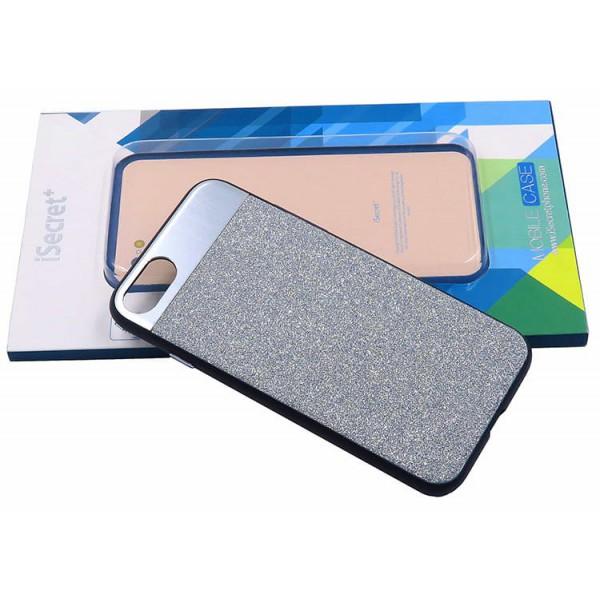 Husa Spate Lux Fashion Isecret iPhone 7/8 Argintie imagine itelmobile.ro 2021
