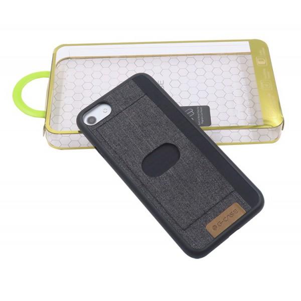 Husa Spate G-case Card iPhone 7 Negru imagine itelmobile.ro 2021