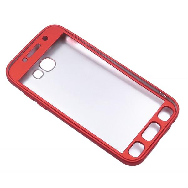 Husa Protectie Silicon 360 Grade Upzz Samsung A7 2017 Red imagine itelmobile.ro 2021