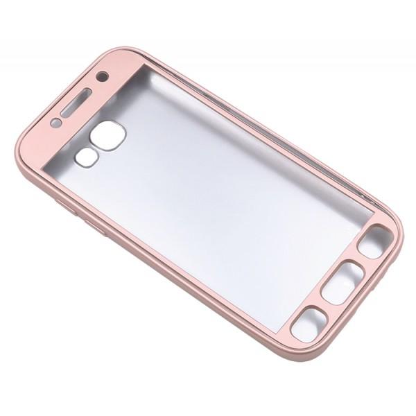 Husa Protectie Silicon 360 Grade Upzz Samsung A7 2017 Gold imagine itelmobile.ro 2021