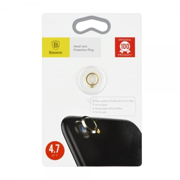 Ring Baseus Protectie Camera iPhone 7 Gold imagine itelmobile.ro 2021